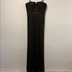 Formal gown detachable straps